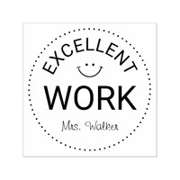 Personalized Teachers Excellent Work Self-inking Stamp