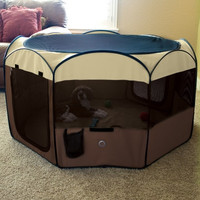 Ware Deluxe Pop-Up Small Pet Dog Cat Playpen Sz: Med
