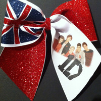 3in. 1D Cheer Bow One Direction Union Jack