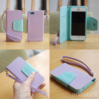 Pastel Phone Case i5/Ardium Korean wallet flip type cute case cover for iPhone 5