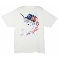Guy Harvey Men's Star Spangeled Guy Short Sleeve T-shirt