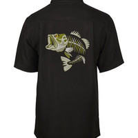 Men's Largemouth Bones Embroidered Fishing Shirt