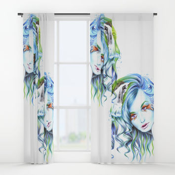 Water Window Curtains by edrawings38