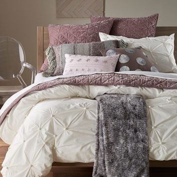 Nordstrom at Home 'Abstract Gathers' Duvet & 'Kiera' Velvet Quilt Bedding Collection | Nordstrom