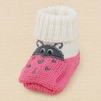 newborn - girls - ladybug booties | Children's Clothing | Kids Clothes | The Children's Place