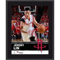 Jeremy Lin Houston Rockets Sublimated 10.5'' x 13'' Plaque