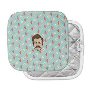 """Juan Paolo """"Give Me All Of The Bacon And Eggs"""" Parks & Recreation Pot Holder"""