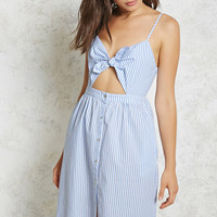 Self-Tie Striped Cami Dress