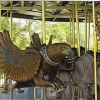 Handmade Postcard from Fine Art - Eagle on Marilyn's Merry-Go-Round at The Living Desert Palm Desert California