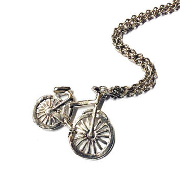 penny-farthing bicycle necklace , bike charm, travel jewelry