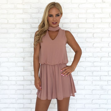 Just Breathe Mauve Romper