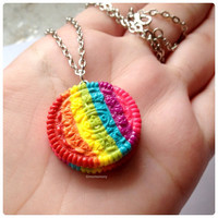 Super Cute Rainbow Oreo Cookie Necklace