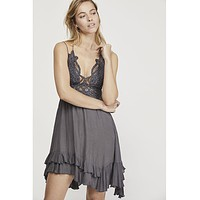Adella Slip Dress Charcoal