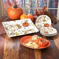 Harvest Thanksgiving Tabletop Collection Fall Autumn Plates Platter Chip n' Dip
