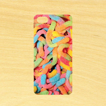 Sour Gummy Worms iPhone 4/4S 5/5C 6/6+ and Samsung Galaxy S3/S4/S5 Phone Case