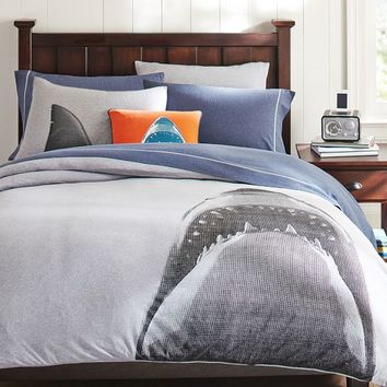 Shark Tee Duvet Cover + Sham
