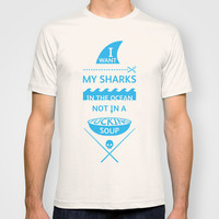 Stop shark finning T-shirt by armthepeople | Society6