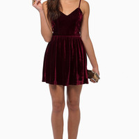 Soft Whispers Velour Dress $56