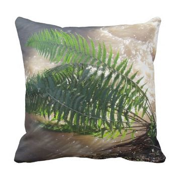 Fern And Flood Throw Pillow