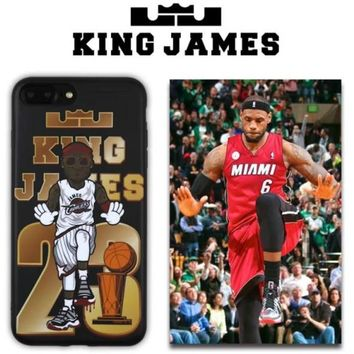 LeBron James 23 King James Cell Phone Cases For iphone 6 6s 6Plus 6sPlus 7 7Plus