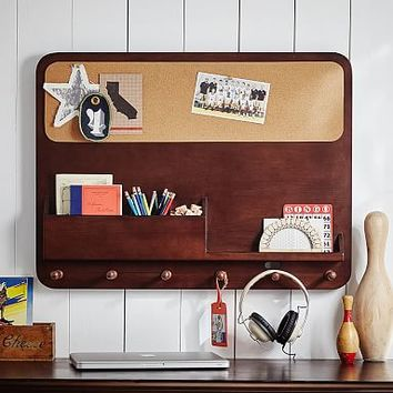 Wood Study Wall Organizer