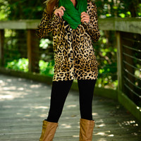 Jungle Fever Cardigan, Leopard