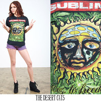 vintage 90s t-shirt vintage 1990s band t-shirt vintage 90s sublime 40oz to freedom concert shirt 90s grunge black band t-shirt