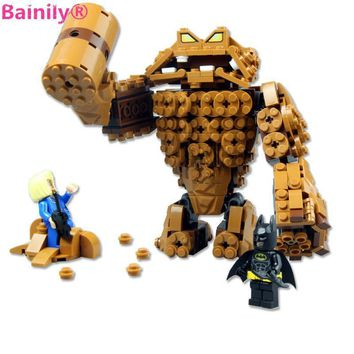 [Bainily]Batman Movie Series The Rock Clayface Splat Attack Building Blocks Bricks Toys Compatible with LegoINGlys batman