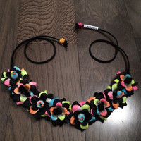 Electric Black Rose Flower Headband, Flower Crown, Flower Halo, Festival Wear, EDC, Neon, Coachella, Ezoo,Ultra Music Festival, Rave
