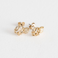 Small Pineapple Stud Earrings - Gold - Studs - & Other Stories US