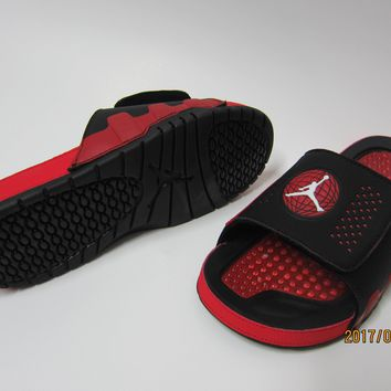 Nike Jordan Hydro Ix Black/red Sandals Slipper Shoes Size Us 7 13