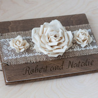 Wedding Guest Book, Rustic Wedding Guestbook, Custom Guest Book, Wood Guest Book