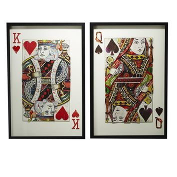Play Your Cards Right Collage Wall Art