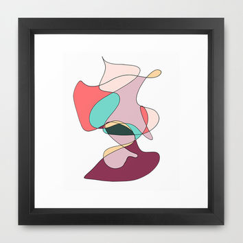 Abstract 1 (white) Framed Art Print by DuckyB (Brandi)