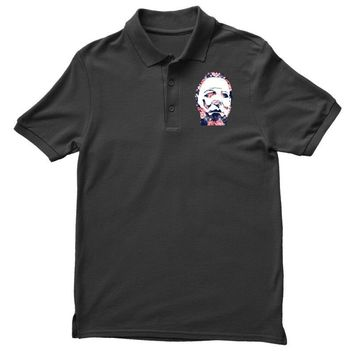 michael myers floral mask Polo Shirt