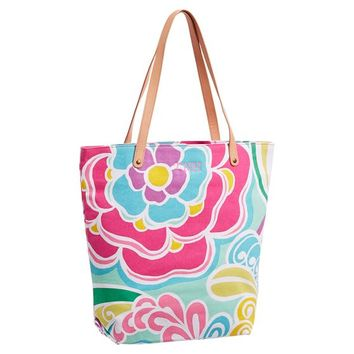 Seaside Splash Beach Tote, Surf Floral