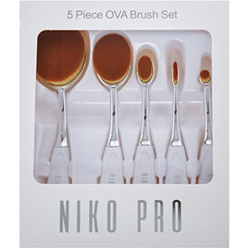 Niko Pro Five Piece Ova Brush Set