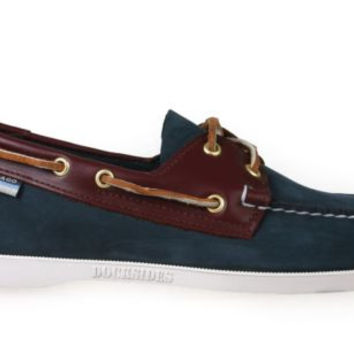 Sebago Mens Boat Shoes B72852 Docksides Blue Brown Suede