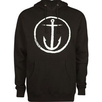 Captain Fin Original Anchor Mens Hoodie Black  In Sizes