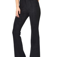 Publisher Suede Flare Trousers