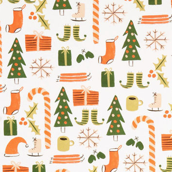 Rifle Paper Co Christmas Wrapping Paper - Roll of 3 Sheets - Favourite Things | NoteMaker - Australia's Leading Online Stationery Shop