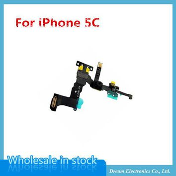 10pcs/lot NEW High Quality Front Camera with Proximity Light Sensor Flex Cable for iPhone 5C free shipping