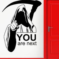 Wall Stickers Vinyl Decal Death Quote You Are Next Funny Scary Decor Unique Gift (z2299)