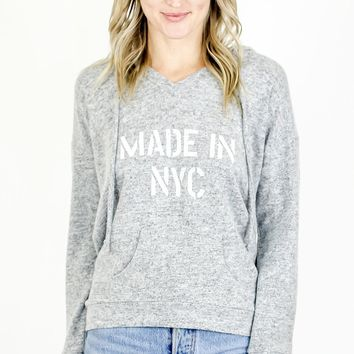 Made in NYC Pullover Hoodie - Heather Grey