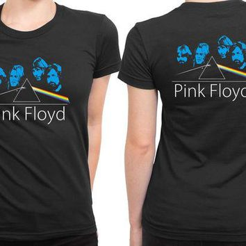 DCCKL83 Pink Floyd Facer 2 Sided Womens T Shirt