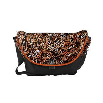 Multi-colored abstract pattern small messenger bag