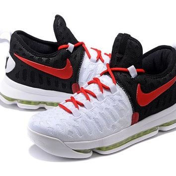 Nike Zoom KD 9 Wht/Blk/Red Basketball Shoe