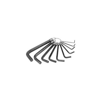 HEX KEY SET 10 PC. METRIC 1.5MM TO 10MM ON A RING
