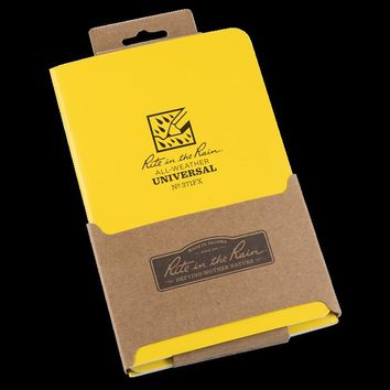 """Rite in the Rain® 371FX All-Weather Side-Stapled Notebook, 4-5/8"""" x 7"""", 3-Pack"""