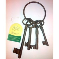 LARGE GARDEN CAST IRON SET OF KEYS. CELTIC DESIGN. RUSTIC ORNATE CHIC METAL.: Amazon.co.uk: Kitchen & Home